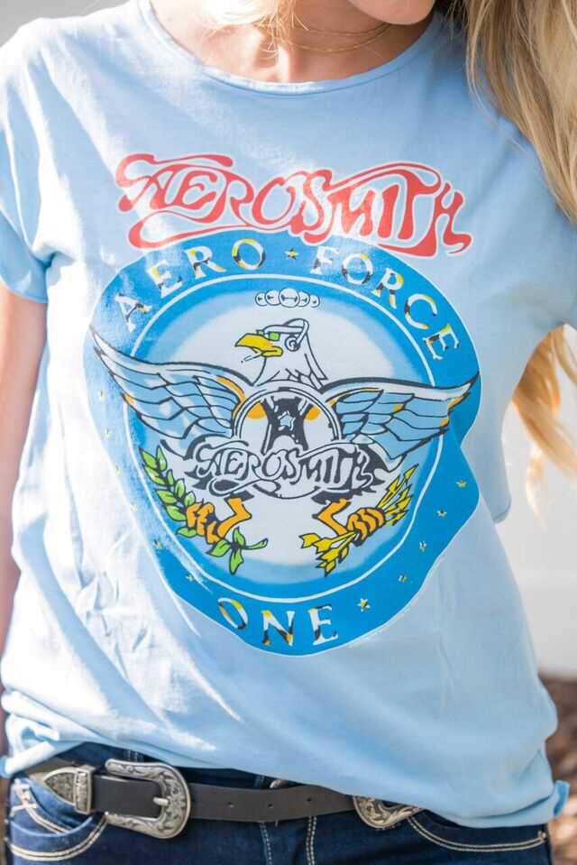 Aerosmith shirt & double buckle belt
