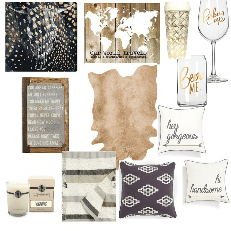 Neutral Rustic Glam Decor