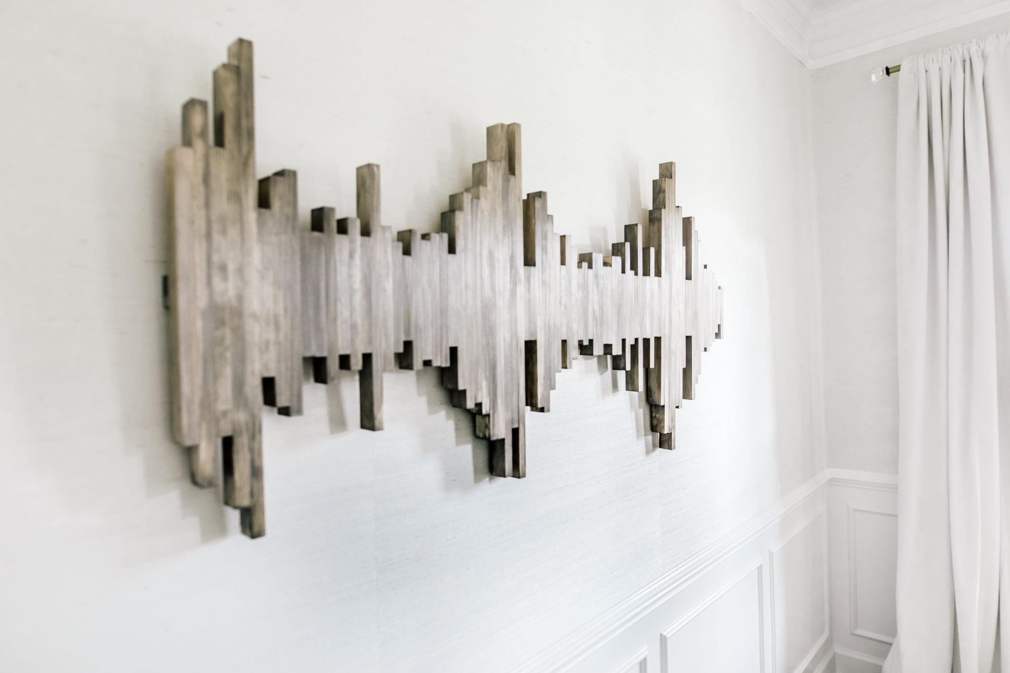 sound wave wall art