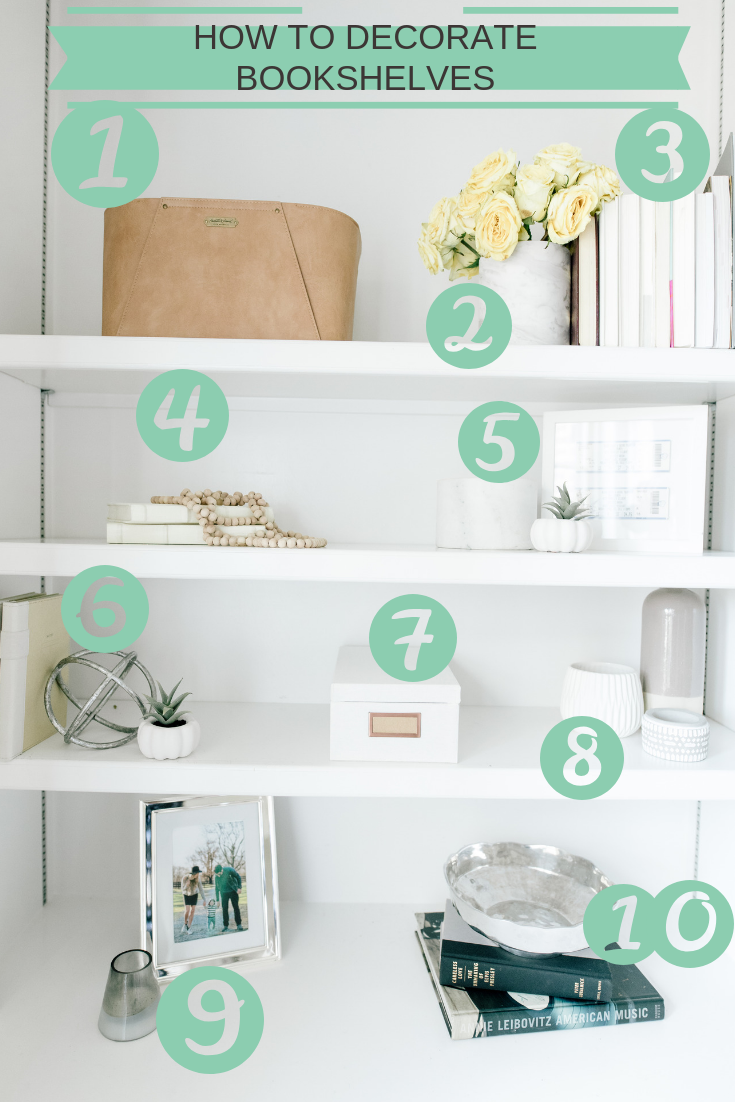 how to decorate bookshelves