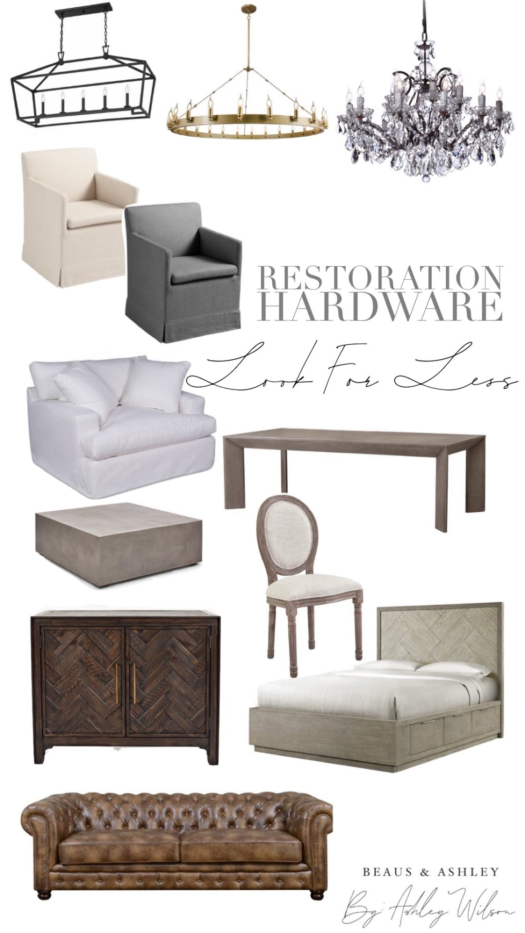 Restoration Hardware Look Alike Items