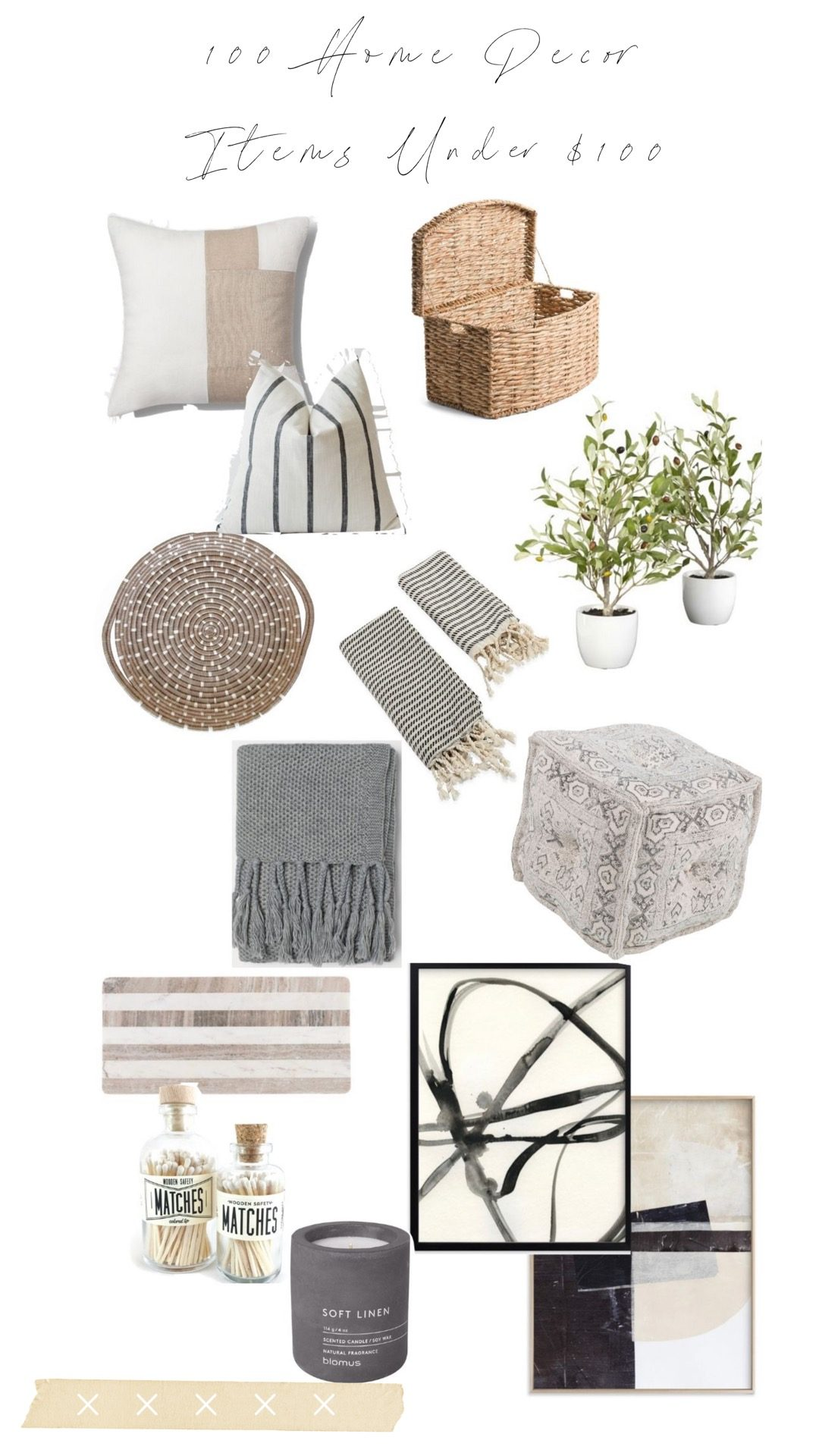 home decor under $100