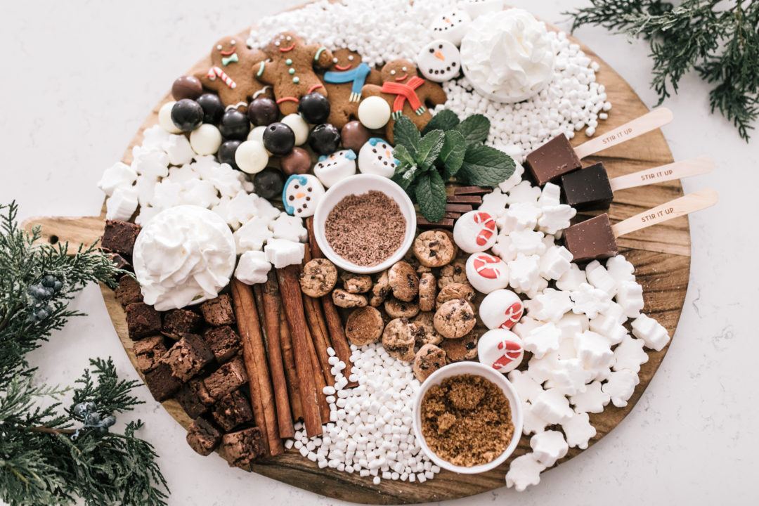 hot chocolate dessert charcuterie board