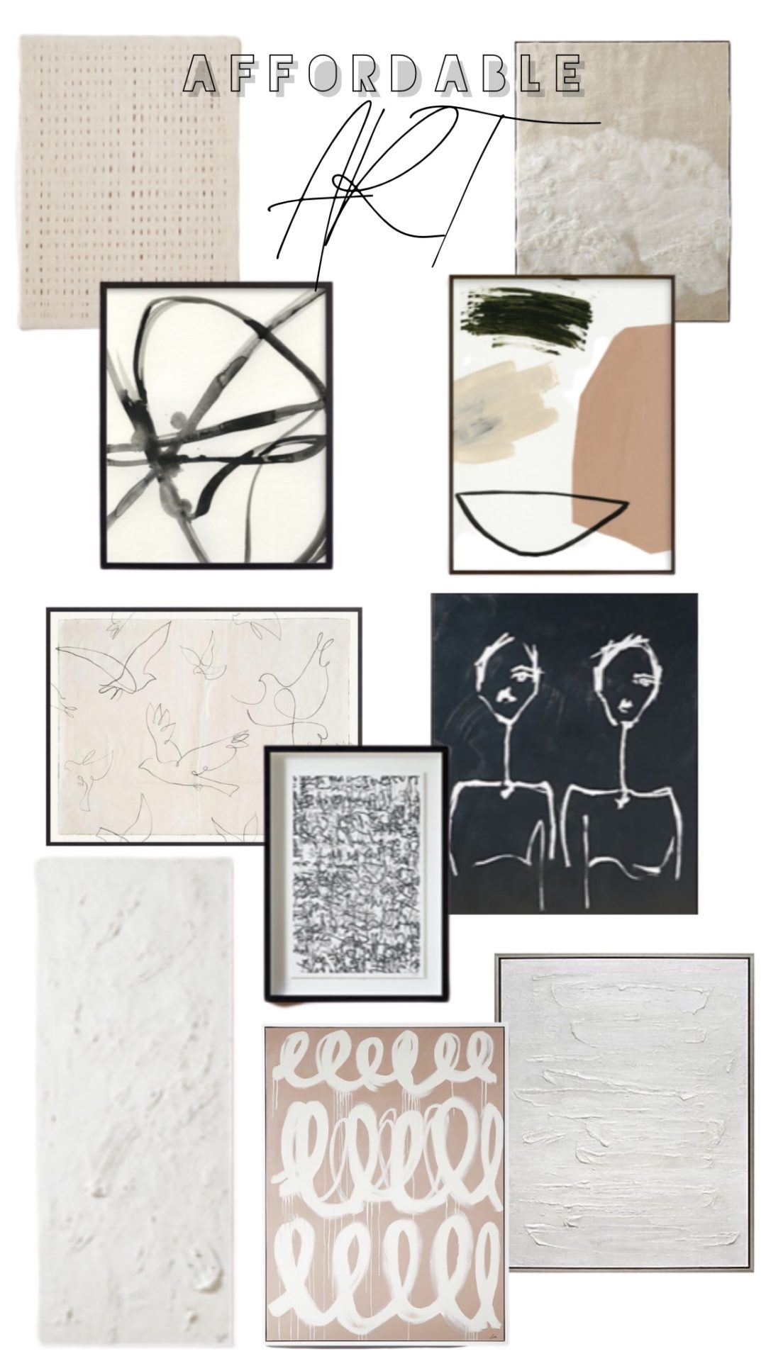 oversized affordable art